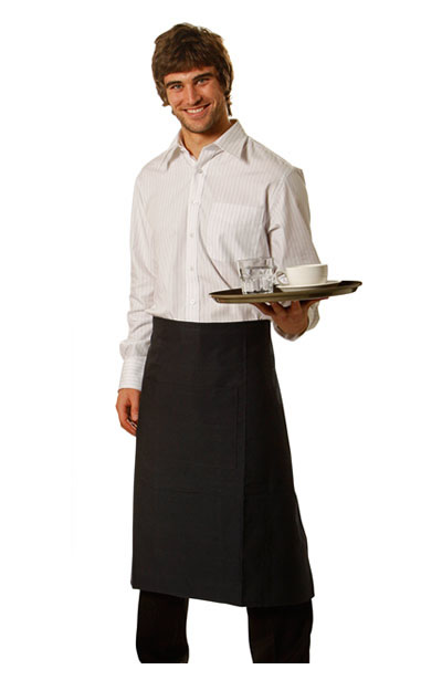 AP02 Long Waist Apron Pocket size: 29cm(w)x20cm(h) include 5cm pen pocket