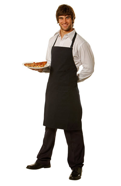 AP03 Bib Apron Pocket size: 29cm(w)x20cm(h), no pen pocket