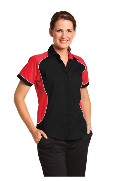 BS16 Ladies Tri-colour Contrast Shirt