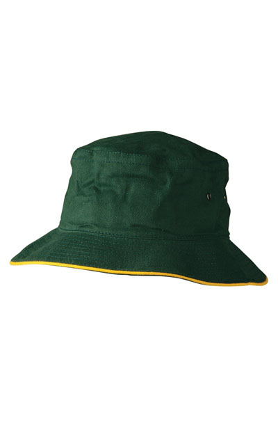 CH31 Soft Washed With Contrast Sandwich Bucket Hat