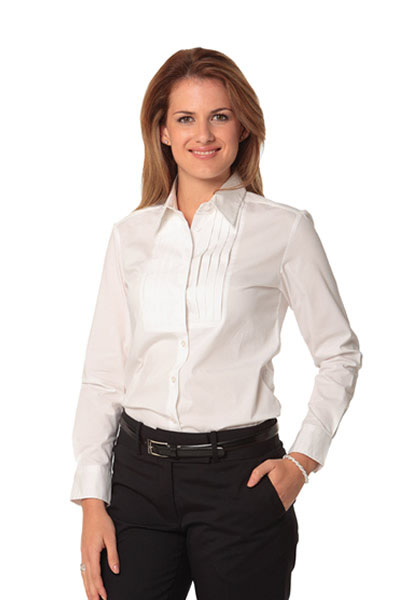 M8192 Women's Stretch Tuck Front Long Sleeve Shirt