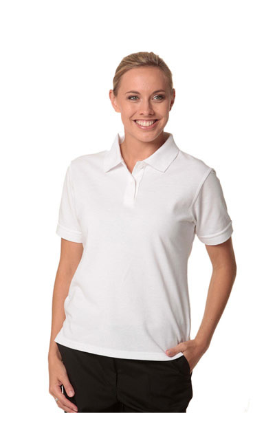 PS23 Deluxe Lady Ladies Tight Pique Knit Short Sleeve Polo