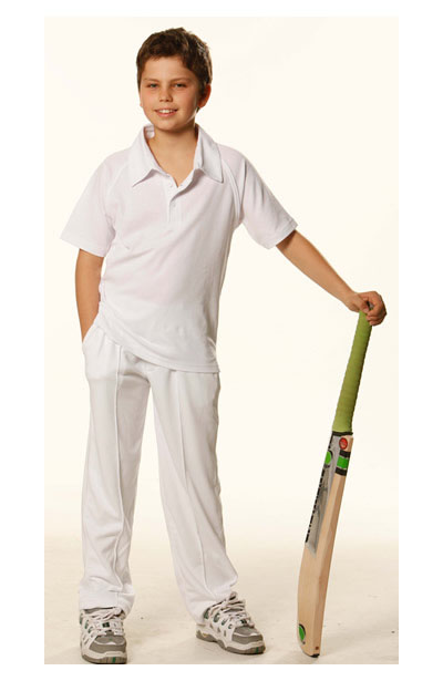 PS29K Kids Short Sleeve Cricket Polo
