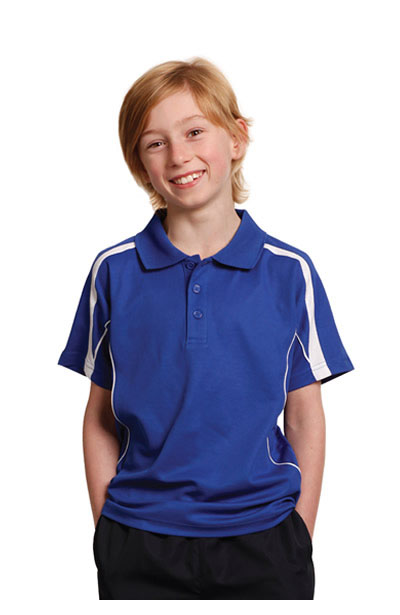 PS53K Kids Short Sleeve Polo TrueDry Short Sleeve Polo