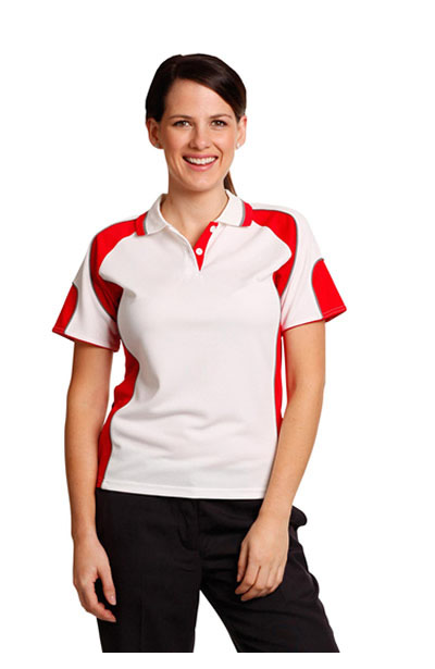 PS62 Ladies CoolDry Contrast Polo with Sleeve Panels