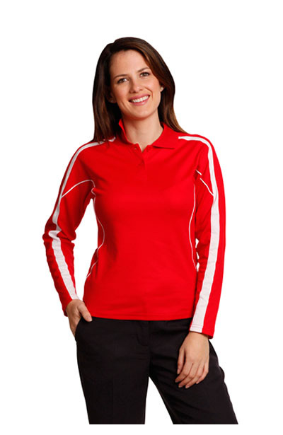PS70 Ladies TrueDry Long Sleeve Polo