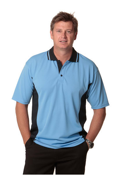 PS73 TEAMMATE TrueDry Contrast Short Sleeve Polo