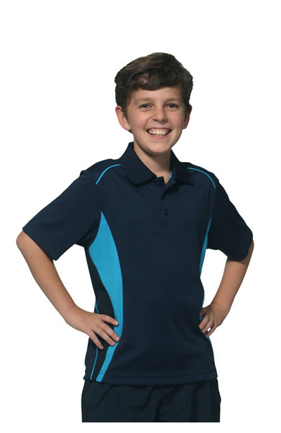 PS79K Kids CoolDry Short Sleeve Contrast Polo
