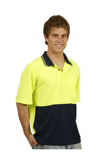 SW01TD High Visibility Short Sleeve TrueDry Mesh Knit Short Sleeve Safety Polo