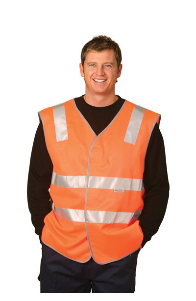SW03 High Visibility Safety Vest With Reflective Tapes