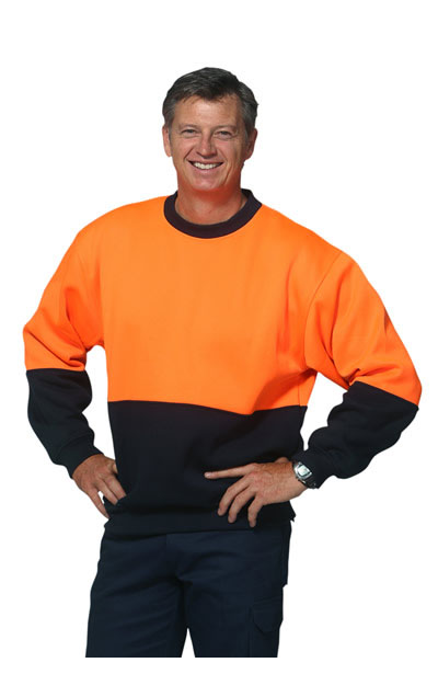 SW09 High Visibility 2 Tone Crew Neck Windcheater
