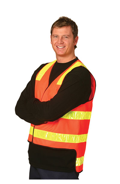 SW10A VIC Road Style of High Visibility Safety Vest Zip