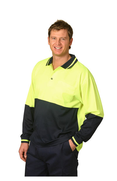 SW11 High Visibility TrueDry Long Sleeve Safety Polo