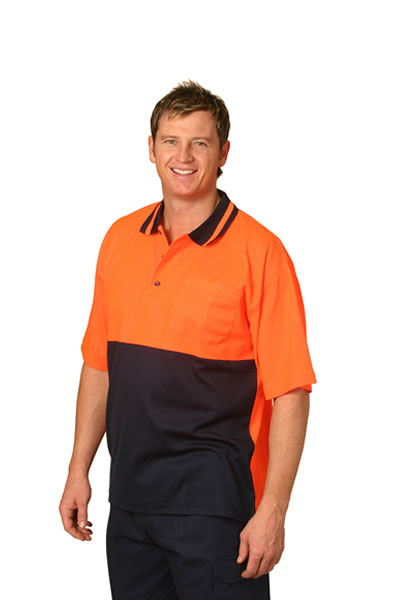 SW12 High Visibility TrueDry Short Sleeve Safety Polo