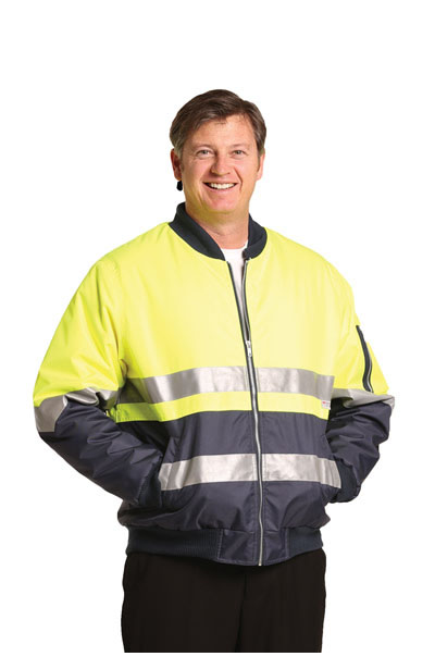 SW16A High Visibility Tow Tone Flying Jacket with 3M Reflective Tapes