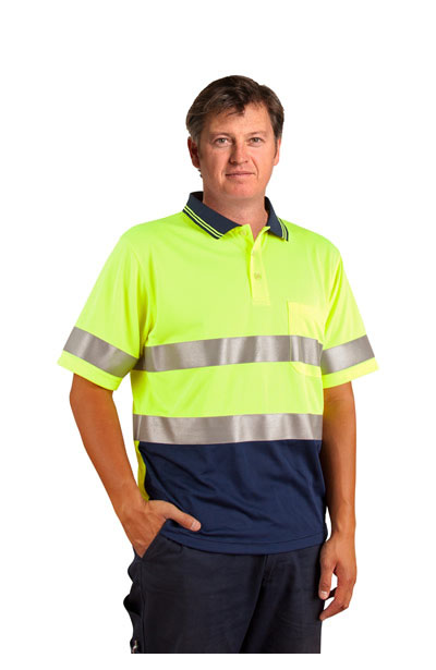 SW17A High Visibility Short Sleeve Safety Polo 3M Reflective Tapes
