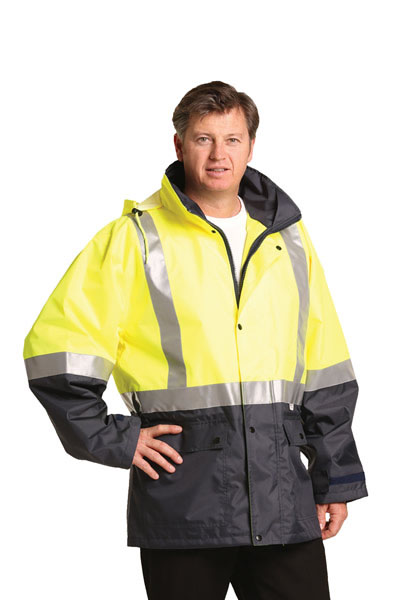 SW18A Hi-Vis Safety Jacket with Mesh Lining & 3M Tapes
