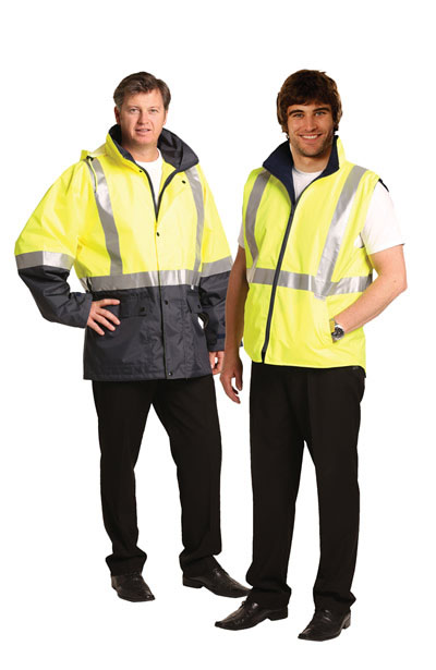 SW20A Hi-Vis Three in One Safety Jacket with 3M Tapes