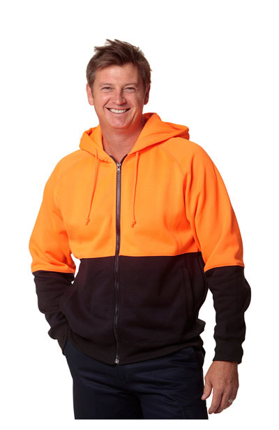 SW24 Men's High Visibility Two Tone Fleecy Hoodie
