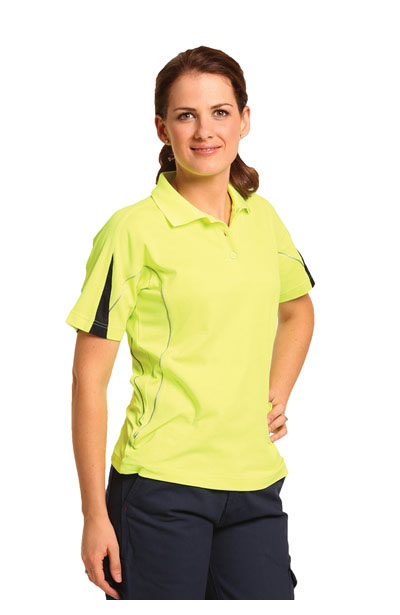 SW26A Ladies TrueDry Hi-Vis Polo with Reflective Piping