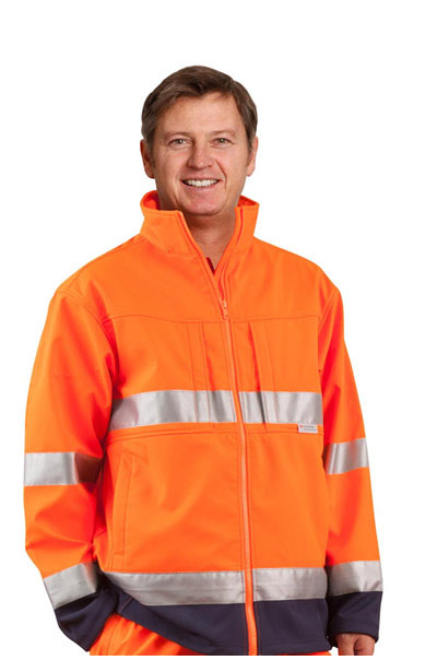 SW29 Hi-Vis Two Tone Softshell Jacket With 3M Tape
