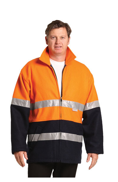 SW31A Hi-Vis Two Tone Bluey Safety Jacket with 3M