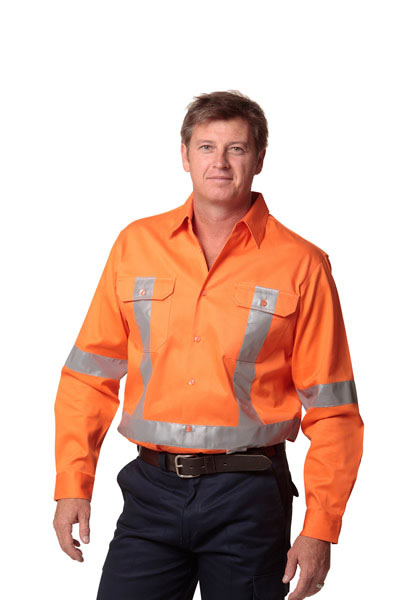 SW56 Cotton Drill Safety Shirt