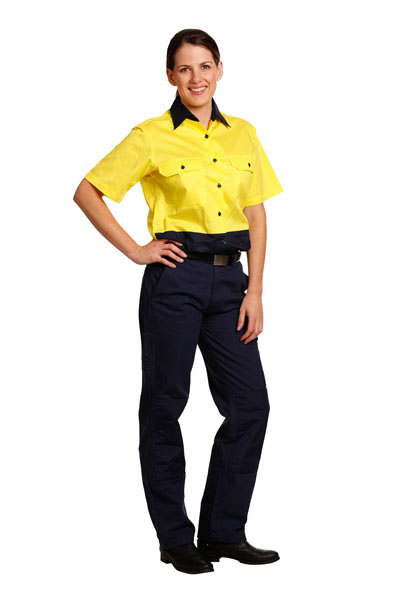 SW63 Ladies Hi-Vis Short Sleeve Safety Shirt