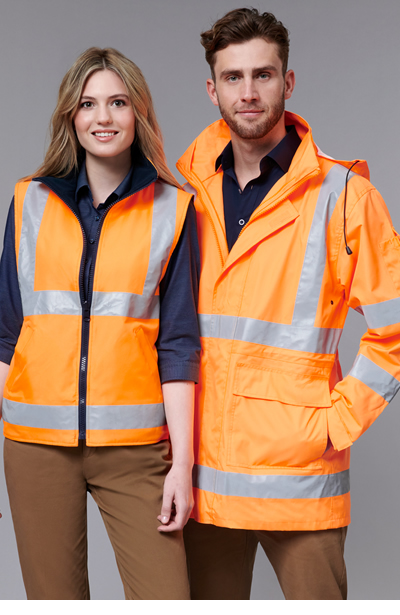 SW77 VIC Rail Hi Vis 3 in 1 Safety Jacket and Vest - Unisex
