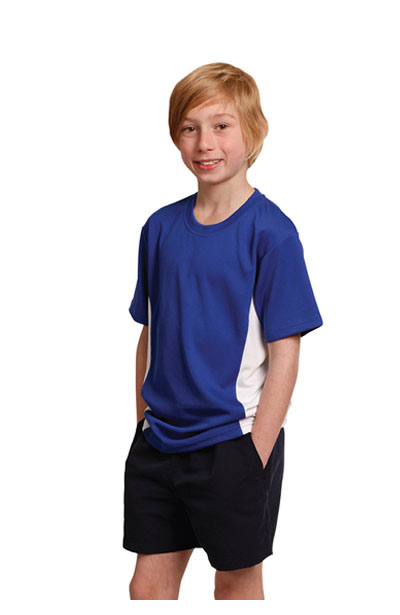 TS12K Kids CoolDry Short Sleeve Contrast Tee