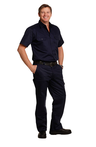 WP03 Men's Cotton Drill Cargo Pants With Knee Pads