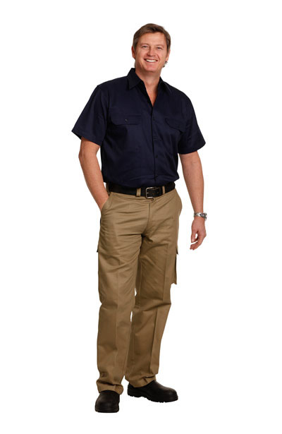 WP07  Men's Heavy Cotton Pre-shrunk Drill Pants - Regular