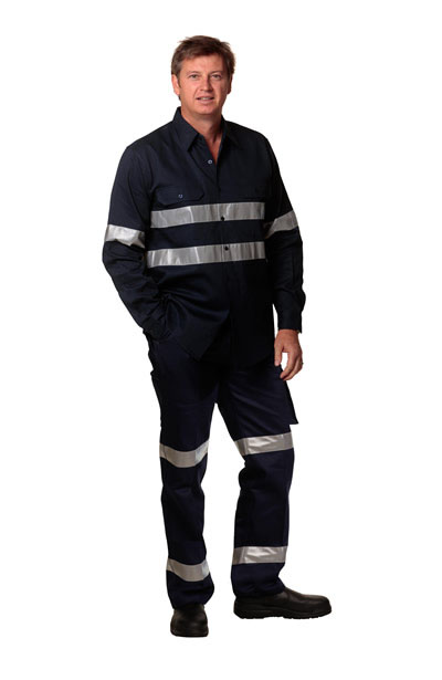WP07HV Men's Heavy Cotton Pre-shrunk Drill Pants with 3M Tapes - Regular