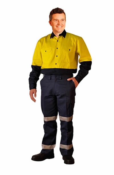 WP13HV Pre-Shurnk Drill pants with 3M tape Long Leg