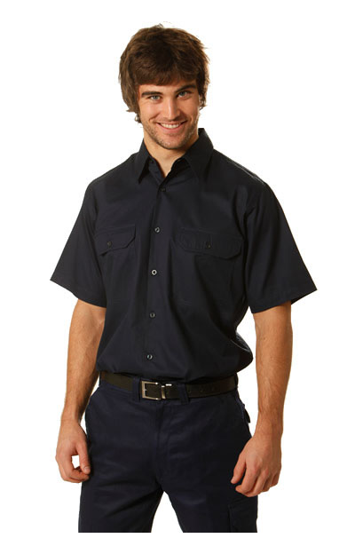 WT01 Cool-Breeze Short Sleeve Cotton Work Shirt