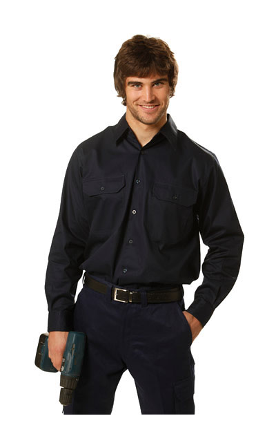 WT02 Cool-Breeze Long Sleeve Cotton Work Shirt